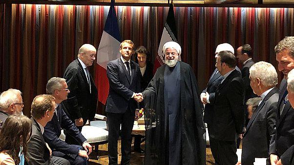Macron ile Ruhani ile New York'ta görüştü.