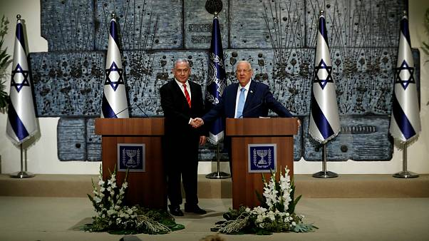 رووین ریولین، رئیس جمهوری و بنیامین نتانیاهو، نخست وزیر اسرائیل