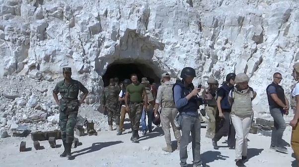 Пещерный город сирийских повстанцев