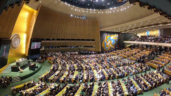 Birleşmiş Milletler (BM) 74. Genel Kurulu Görüşmeleri devlet ve hükümet başkanlarının katılımıyla başladı. ( Erçin Top - Anadolu Ajansı )