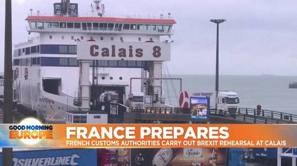 Calais carries out drills to prepare for Brexit disruption