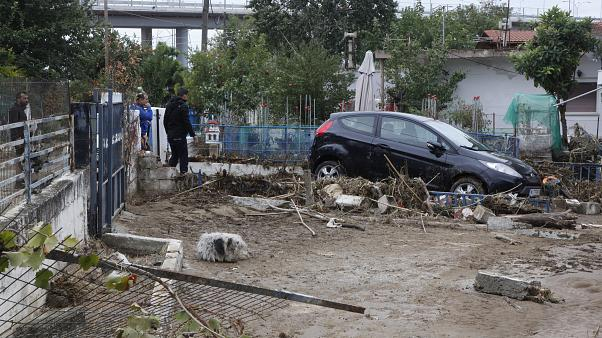 Πλημμύρες στην Ευκαρπία Θεσσαλονίκης