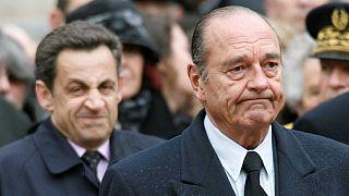 Jacques Chirac et Nicolas Sarkozy, le 21 mars 2007