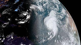 El huracán Lorenzo el 25 de septiembre