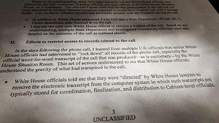 Trump'ın azil sürecini başlatan ihbar mektubunun bir kısmı yayımlandı
