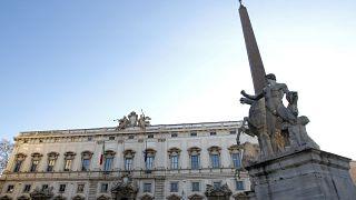 El Palacio de la Consulta (Tribunal Constitucional) se ve en el centro de Roma el 13 de enero de 2011.