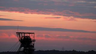 FILE PHOTO: General view of Wujek Coal Mine is seen during sunset in Katowice, Poland October 16, 2108.