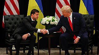 الرئيسين الأمريكي دونالد ترامب والأوكراني فولوديمير زيلينسكي