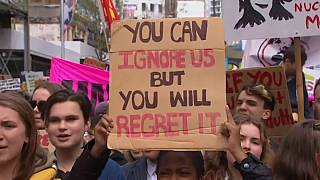Friday's second wave of protests began in New Zealand