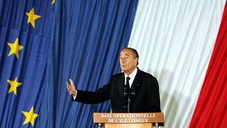 L'ancien président français Jacques Chirac