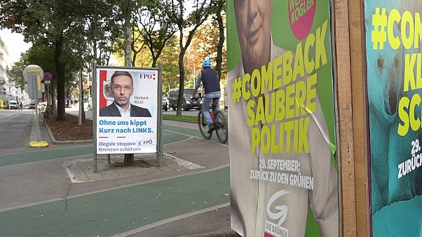 Wahlplakate in Wien: Der Klimaschutz spielt eine wichtige Rolle im Wahlkampf.