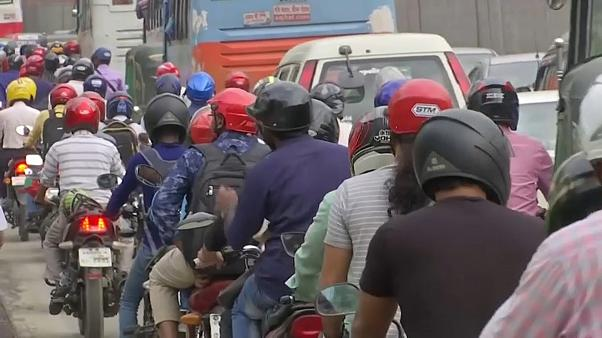 Watch: Motorbike ride sharing gets Dhaka traffic moving