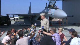 شاهد: صور من داخل القاعدة الجوية العسكرية الروسية في حميميم بسوريا