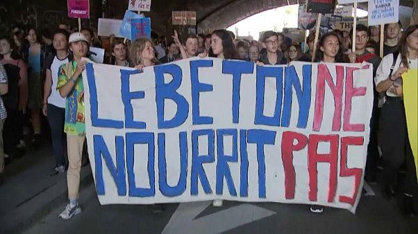 Klimaproteste im schweizerischen Lausanne