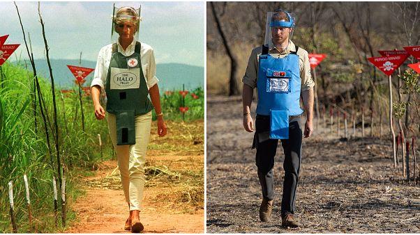 على خطى والدته الراحلة ديانا بعد 22 سنة.. الأمير هاري يزور حقول الألغام في أنغولا