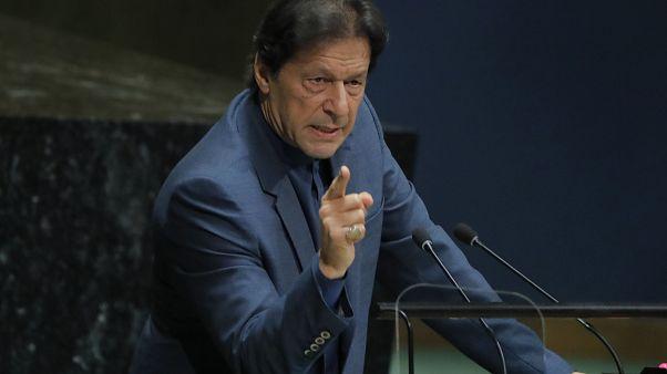 İmran Han'dan BM'de Keşmir uyarısı: İki nükleer güç Hindistan ile Pakistan karşı karşıya gelecek