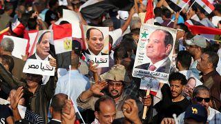 مظاهرات حاشدة مؤيدة للسيسي في القاهرة