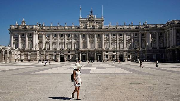 The Palace Royal in Madrid.