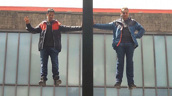 """4 Stunden lang: Männer """"schweben"""" über São Paulo"""