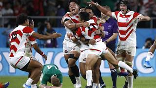 Japan were jubilant as the final whistle secured their huge Rugby World Cup upset