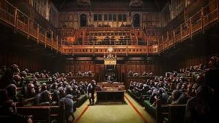 Στο σφυρί το έργο του Banksy με τους χιμπατζήδες στο βρετανικό κοινοβούλιο