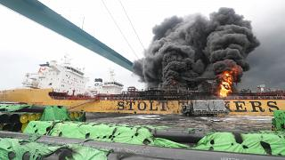 جرح 12 بحارا في حريق على متن ناقلتي نفط في كوريا الجنوبية