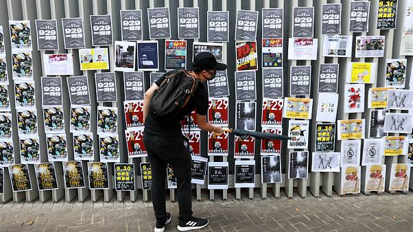 بازسازی «دیوارهای لنون» در هنگ کنگ در آستانۀ جشنهای ملی چین