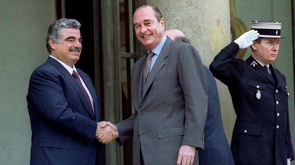 Refik Hariri ve Jacques Chirac