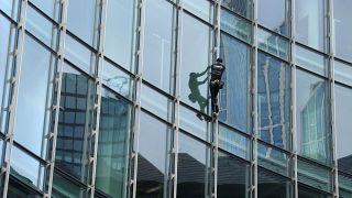 'French Spiderman' scales a 39-storey skyscraper in Frankfurt