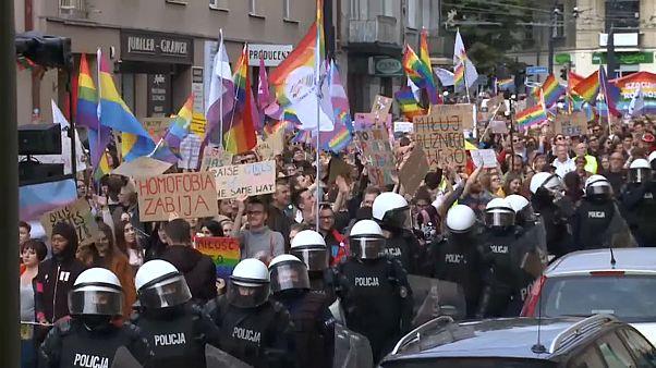 Homofobia en la Marcha del Orgullo Gay de Polonia