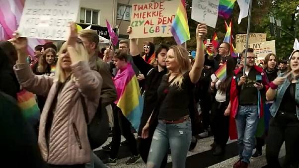 Polish police protect LGBT marchers as tensions rise before election