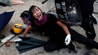 Hong Kong : le week-end le plus violent