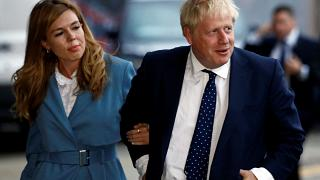 Boris Johnson arrives in Manchester with girlfriend Carrie Symonds