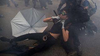 Police use tear gas at anti-China protest in Hong Kong