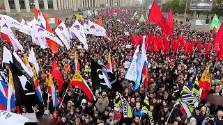 Miles de opositores marchan en Moscú por la liberación de los presos políticos