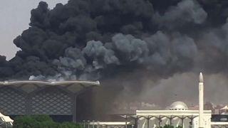 Fuego en la estación del AVE a La Meca