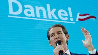 Mehr als 37%: Sprachloser Sebastian Kurz feiert Wahlerfolg der ÖVP