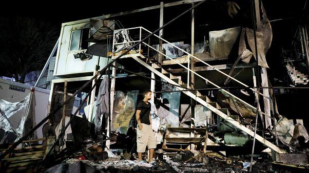 Пожар в лагере беженцев