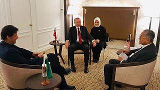 Erdoğan, Pakistan ve Malezya başbakanlarıyla görüştü