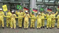 Protestos na receção de ministro brasileiro na Alemanha