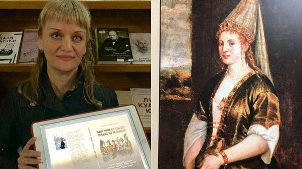 Ukraynalı yazar Oleksandra Şutko 'Kadın Saltanat: İktidar ve Sevgi' kitabının tanıtımını yaptı