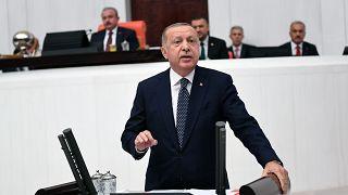 Türkiye Cumhurbaşkanı Recep Tayyip Erdoğan, 27. Dönem 3. Yasama Yılı'nın açılışı dolayısıyla TBMM Genel Kurulu'nda milletvekillerine hitap etti.