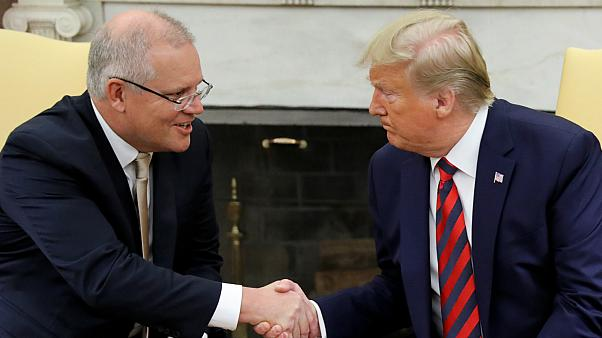 Avustralya Başbakanı Scott Morrison ve ABD Başkanı Donald Trump