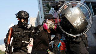 Hongkong: Straßenschlachten am Nationalfeiertag