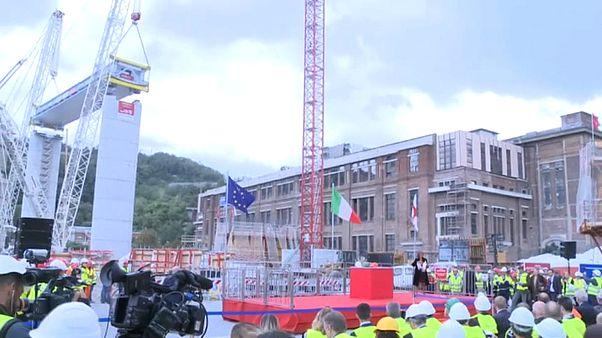 Genova: posato il primo tratto del nuovo ponte