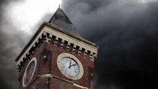 Le ciel de Rouen après l'incendie de l'usine Lubrizol, le 26 septembre 2019.
