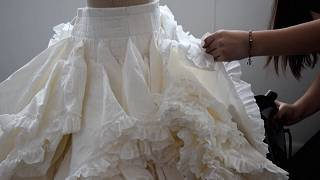 Toilet paper dress contest winner wipes floor with competition