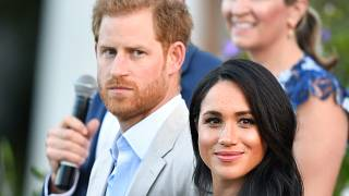 The Duke and Duchess of Sussex, Prince Harry and his wife Meghan attend a reception for young people, community and civil society leaders ain South Africa.