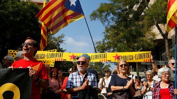 """""""Nicht vergessen, nicht vergeben"""": Proteste in Katalonien"""