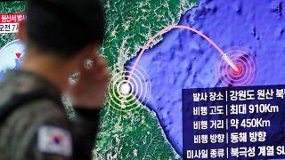 دو فروند موشک کره شمالی در دریای ژاپن فرود آمد